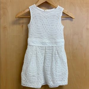 Crewcuts size 6 white lace dress with pockets